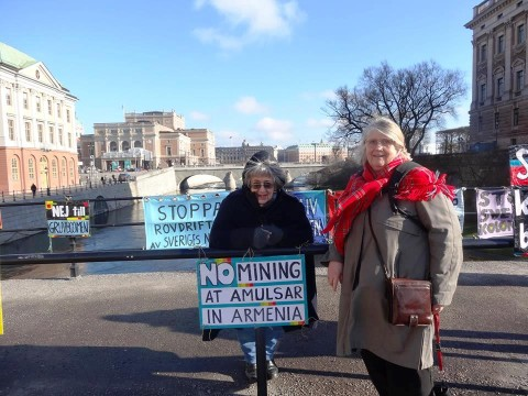 No to Mining at Amulsar: Protests in Sweden