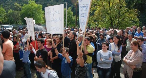 Kaishi-protesters Georgia