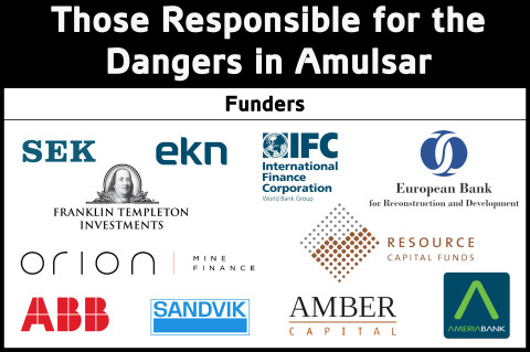 Those Responsible for Funding and Equipping mining in Amulsar